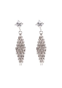 Gordonmax Mesh Princess Cut Earring A10316ER