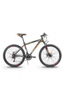 "Asogo A1526562-BC 26"" Alloy Mountain Bike Mtb 21-speed (Black)"