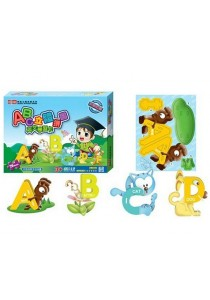 ABC Alphabet 3D Animal Puzzles Kids Children Learning Cards Toys 26Pcs/Set