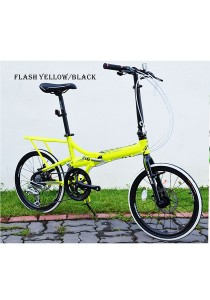 "20"" XDS AFB360 Flash Yellow/Black (16 Speed) Folding Bike"