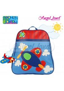 Stephen Joseph Go Go Backpack - Airplane