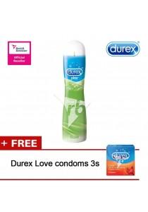 Durex Play Gel 100ml Aloe Vera FOC 1 Box Condom 3s