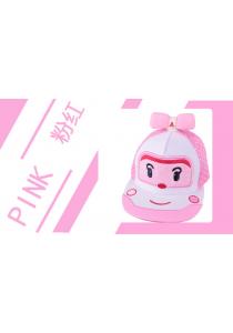 Furry Ribbon Robocar Amber Kid's Cap - Pink White