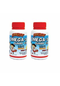 Twin Memory Enhancer Pack Gummy Kids - Omega 3 Gummy Fish 60s
