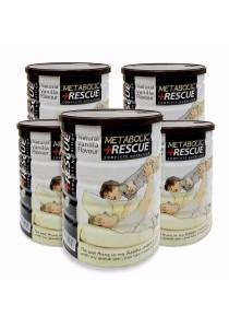 Diabetec Rescue Pack 5x Metabolic Rescue Complete Nutrition Vanilla Flavor 700g