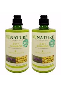 Nunature 2 IN 1 Shampoo 450ml - Twin Pack