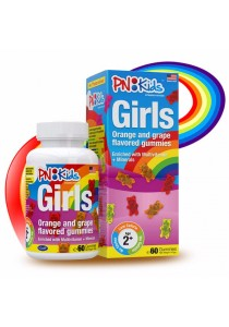 PNKIDS Girls Orange And Grape Flavored Gummies 60s