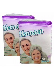 Hennson Adult Disposable Diapers M 10s - Twin Pack