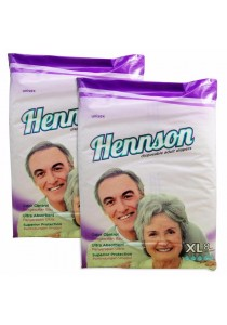 Hennson Adult Disposable Diapers L 8s - Twin Pack