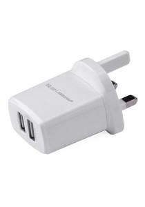UGREEN USB Wall Charger Two Ports 5V/3.4A  UK Plug CD104 - 20531 (White)