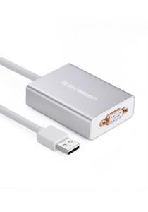 UGREEN 40244 80cm USB2.0 To VGA Converter (Silver)