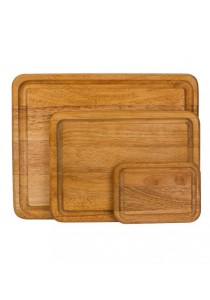 Arche 3-Piece Solid Wood Chopping Board Set 15x12, 12x9, 7x5 Inch