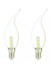 [2 Packs] LumiLaz E14 1.8W LED Light Bulb Energy Saving Warm Yellow Light