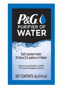 P&G Purifier of Water 24 Packets PNG Procter & Gamble Water Purifier Powder Technology (Blue)