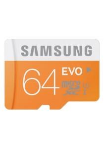 Samsung EVO 64GB 48MB/s MicroSDHC  U1 UHS I Memory Card with Adapter