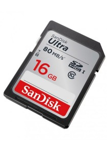 SanDisk Ultra 16GB 80MB/s C10 SDHC UHS-I Memory Card