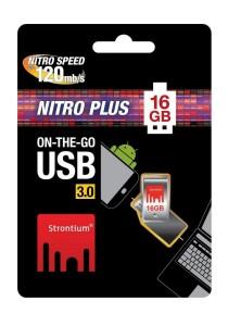 Strontium Nitro PLUS 16GB 120MB/S On-The-Go (OTG) USB 3.0 Flash Drive