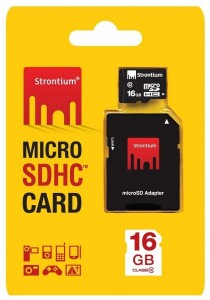 Strontium 16GB Micro SD SDHC Class 10 Android Memory Card with Adaptor