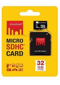 Strontium 32GB Micro SD SDHC Class 10 Android Memory Card with Adaptor