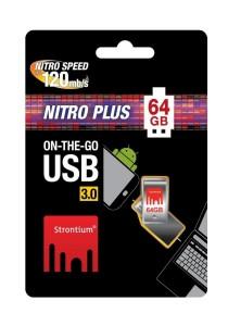 Strontium Nitro PLUS 64GB 130MB/S On-The-Go (OTG) USB 3.0 Flash Drive