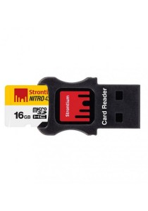 Strontium Nitro 16GB 65MB/s UHS-I (U1) microSDHC/XC 3-in-1 Mobility Kit (USB Card Reader + micro SD Adapter)