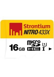 Strontium Nitro 16GB 65MB/s U1 Class 10 UHS-1 MicroSDHC Micro SD Memory Card