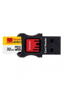 Strontium Nitro 32GB 70MB/s UHS-I (U1) microSDHC/XC 3-in-1 Mobility Kit (USB Card Reader + micro SD Adapter)