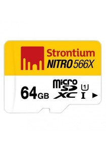 Strontium Nitro 64GB 85MB/s U1 Class 10 UHS-1 MicroSDHC Micro SD Memory Card