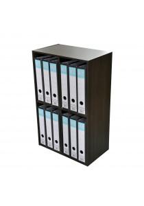 Arch File Storage Shelf Organiser Box Wooden Bookshelf