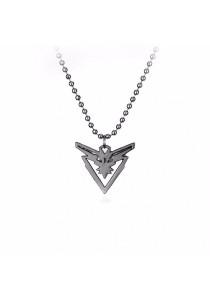 Arche Pokemon Go Yellow Team Spark Legendary Bird Zapdos Gift Necklace (Silver)