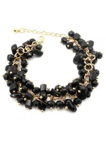 Arche Onyx Protective Therapeutic Gemstone Cluster Bracelet (Black)