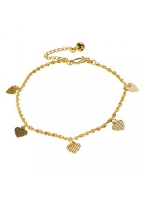 Arche Eternal Love Gold Chain Anklet (Gold)