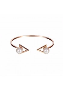 Arche Spectacular Swarovski Zirconia Round Crystal Trendy Fashion Designer Jewellery (White & Gold)