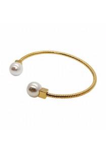 Arche Spectacular Swarovski Zirconia Square Crystal Trendy Fashion Designer Jewellery (White & Gold)