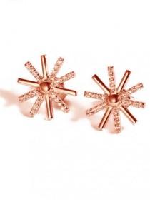 Arche Descendant of The Sun Crystal Korean Stud Earrings (Gold)