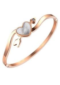 Arche Sweet Heart Love Arrow Rose Gold Bangle (Rose Gold)