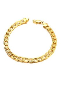Arche 18K Gold Plated Noble Chain Bracelet (Gold)