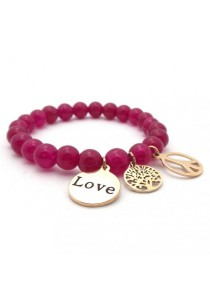 Arche Endless Peace of Love Agate Bracelet (Pink)