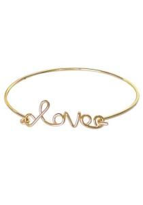 Arche 18K Gold Plated Love Cuff Bangle (Gold)
