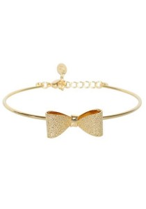 Arche 18K Gold Plated Bow Knot Cuff Bangle (Gold)
