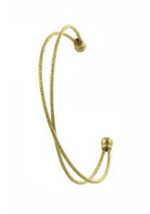Arche Cross Cuff Simple Style Casual Bangle (Gold)