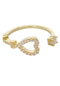 Arche Sweetheart Rhinestone Adjustable Ring (Gold)