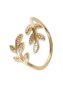 Arche Greek Laurel Wreath Crown Adjustable Ring (Gold)