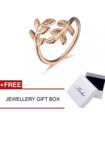 Arche Greek Laurel Wreath Crown Adjustable Ring (Rose Gold)