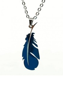 Arche Feather Pendant Stainless Steel Necklace