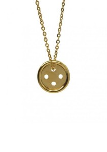 Arche Button Stainless Steel Pendant Necklace