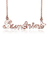 Arche Sunshine Stainless Steel Pendant Necklace