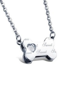 Arche Sweet Bone Pendant Stainless Steel Necklace