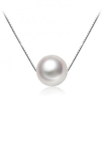 Arche Beauty of the Ocean Pure Pearl Pendant Necklace (White)