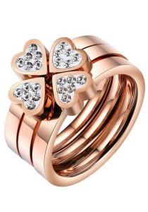 Arche Charismatic Clover Leaf Stack Ring US 9 (Gold)
